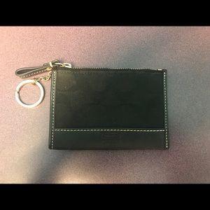 Coach Black Monogram Mini Skinny ID Case